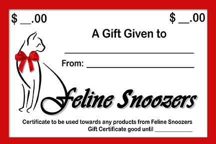 Feline Snoozers gift certificate image
