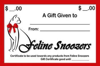 Feline Snoozers Gift Certificate